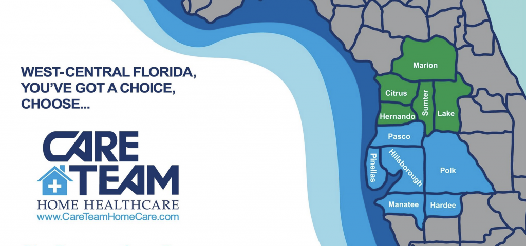 careteam homecare service area map